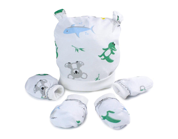 Baby Animals 3 Piece Layette Set