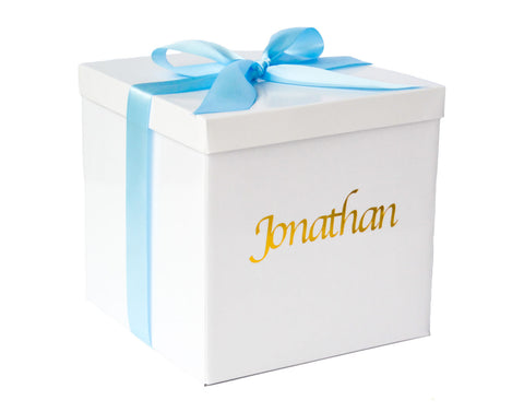 Personalised Baby Boy Gift Box