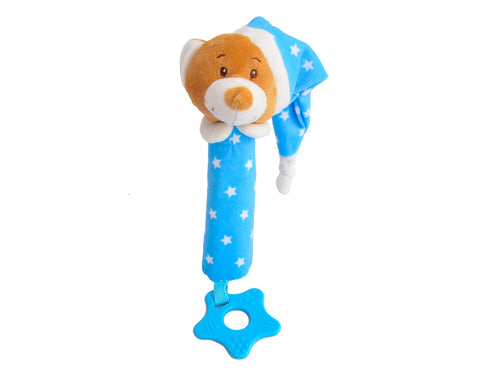 Bedtime Bear Squeaker Plush with Teether