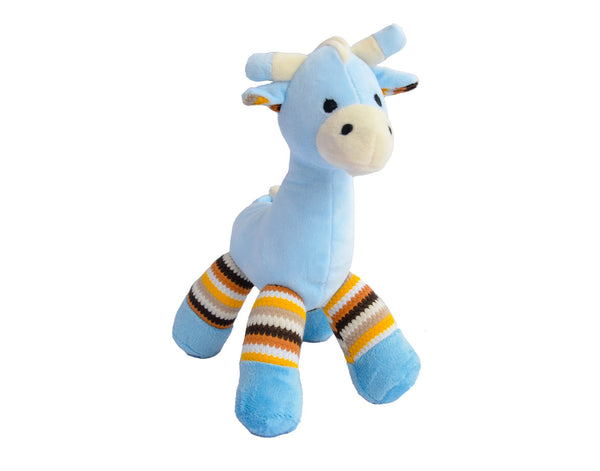 Blue Giraffe Plush Rattle Toy