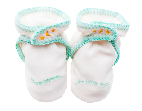 Teal Baby Slippers