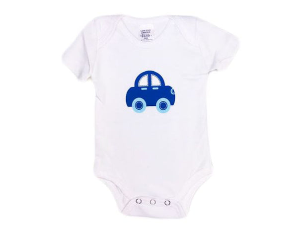 Blue Car Short Sleeve Bodysuit