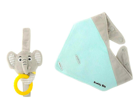 3-in-1 Elephant Buddy Bib