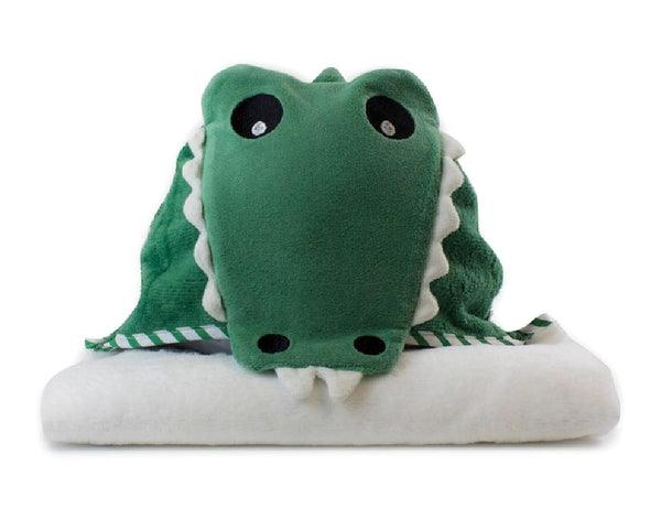 Crocodile Large Plush Hooded Towel