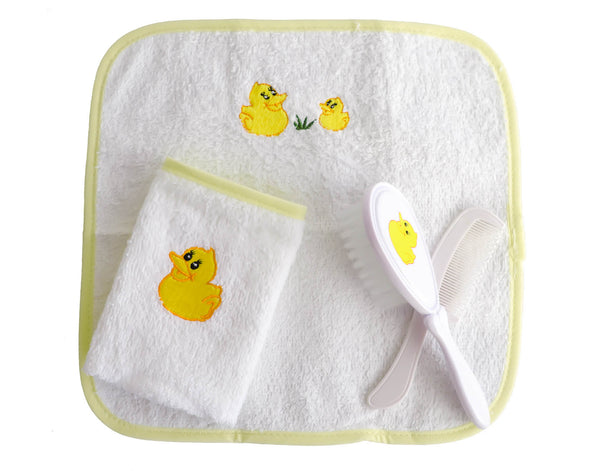 Duck Brush Set with Wash towels