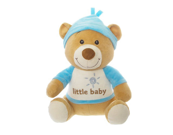 Plush Blue Nursery Teddy Bear