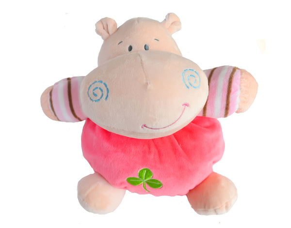 Hippo Rattle and Squeak Plush Toy