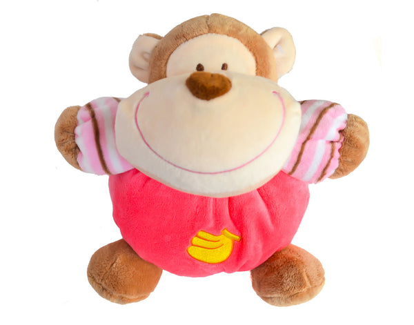 Monkey Rattle and Squeak Plush Toy
