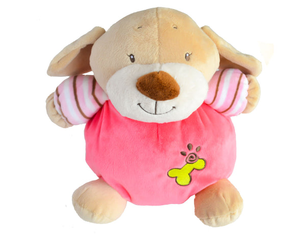 Puppy Rattle and Squeak Plush Toy