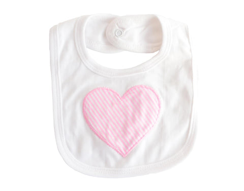Embroidered Heart Bib