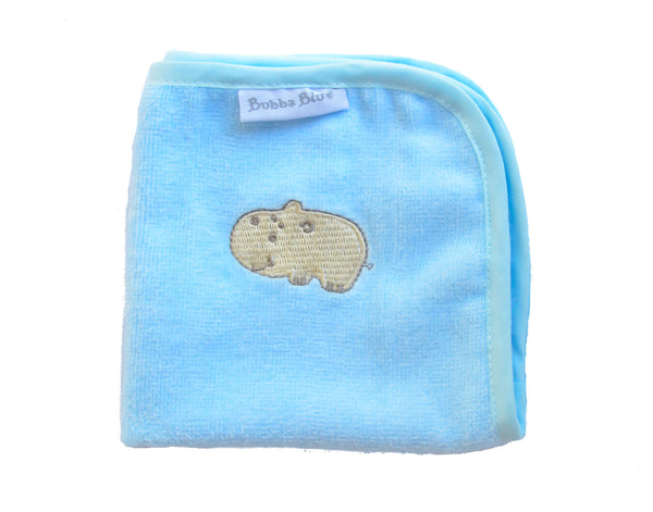 Light Blue Hippo Wash Towel