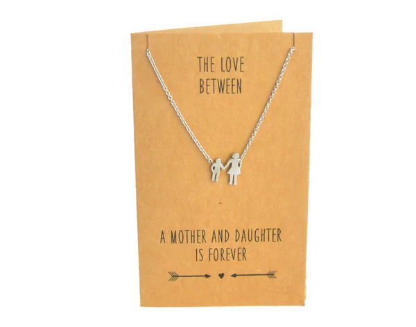 Mother & Daughter Charm Necklace