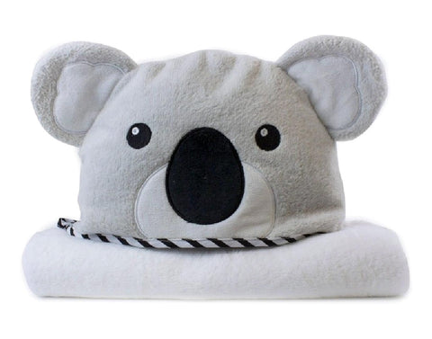 Koala Large Plush Hooded Towel