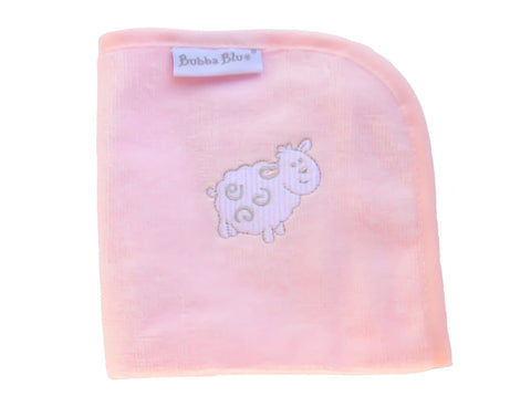 Pink Lamb Wash Towel