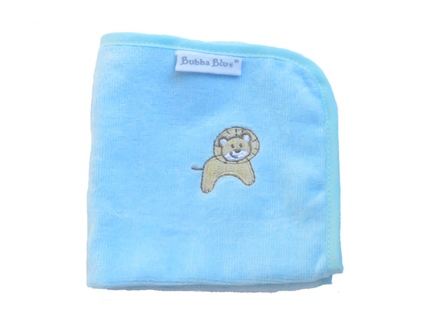 Light Blue Lion Wash Towel