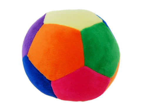 Multi-Coloured Nursery Ball with Rattle