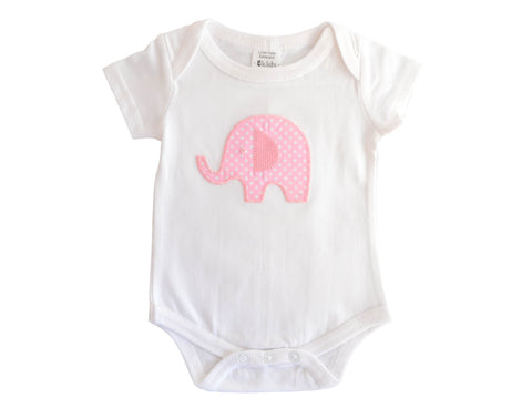 Baby Girl Elephant Bodysuit