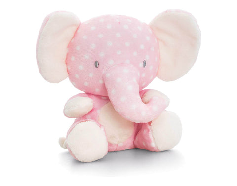 Pink Spotted Safari Elephant Plush