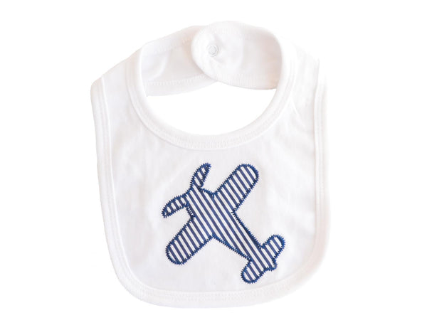 Embroidered Aeroplane Bib