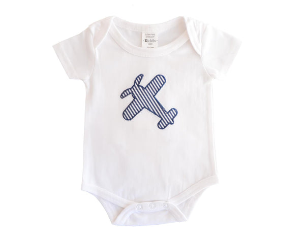 Embroidered Aeroplane Bodysuit
