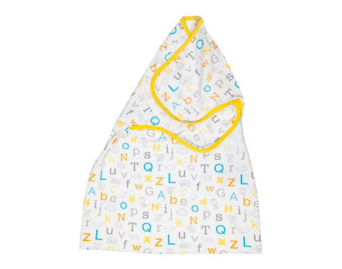 Alphabet swaddle wrap