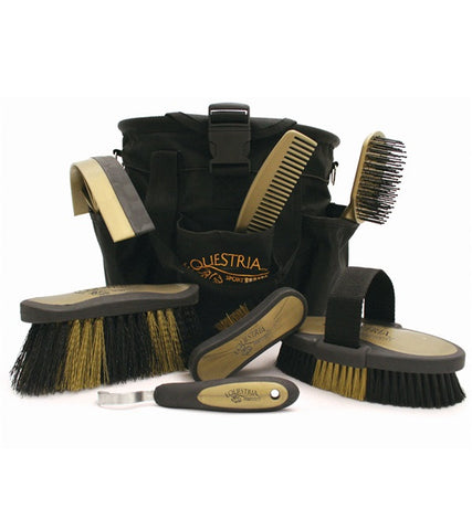 Equestria™ Sport Grooming Brush Kit - Black & Gold