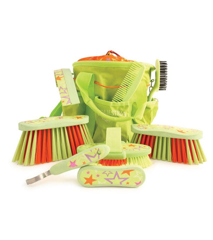 Equestria™ LUCKYSTAR™ Grooming Brush Kit - Lime Green