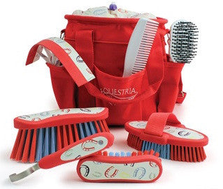Equestria™ Sport Horseshoes™ 8 piece Grooming Brush Kit - Red Chili Pepper