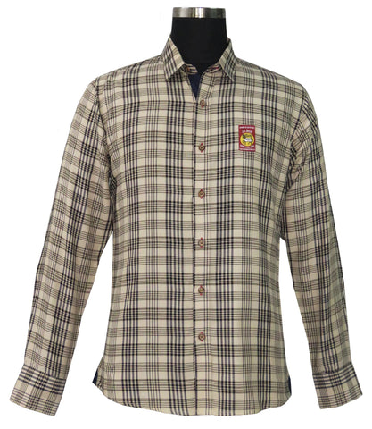 Baker Mens Plaid Long Sleeve Shirt - The Houndstooth Horse  - 1