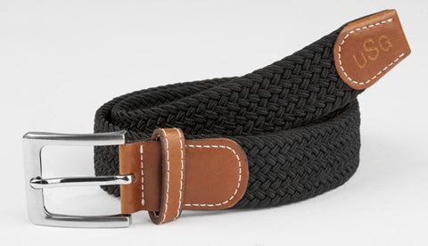 USG Womens Casual Solid Color Belt with Leather