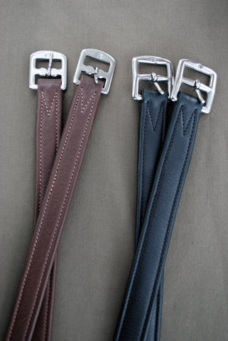 Red Barn Calf Leather Lined Stirrup Leathers in Black or Brown
