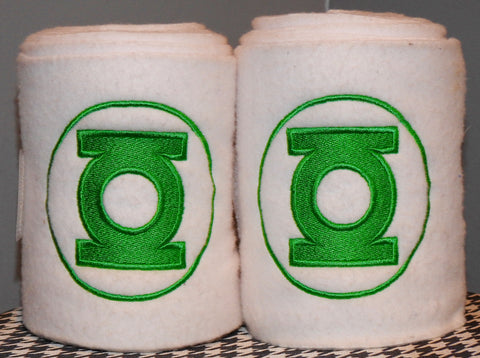 Green Lantern Embroidered Polo Wraps