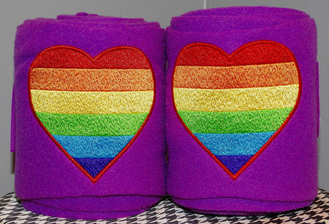 LGBT Pride Rainbow Flag Heart Embroidered Polo Wrapstest - The Houndstooth Horse  - 1