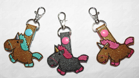 Glitter Unicorn Key Chain