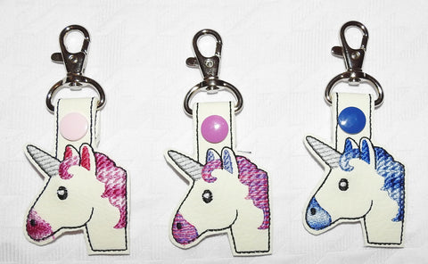 Emoji Unicorn Key Chain