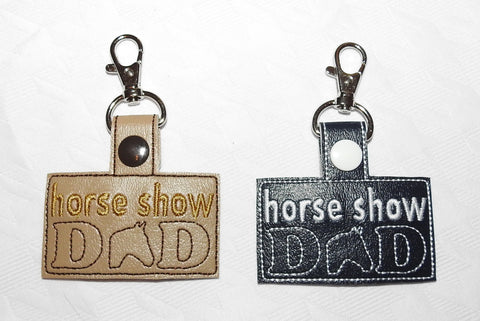 Horse Show Dad Key Chain