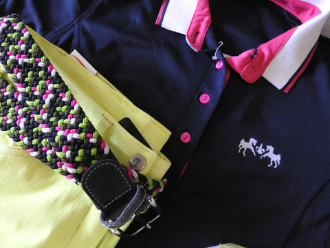 Exclusive Outfit - Neon green, Pink & Navy