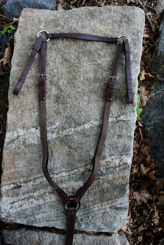 Red Barn Adjustable Leather or Elastic Breastplate