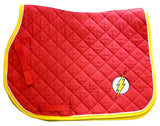 Ultimate Flash Logo Embroidered Saddle Pad - 3 sizes - The Houndstooth Horse  - 1