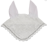 Crystal Embroidered Monogramed Fly Bonnet w/ crystal trim