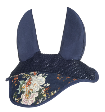 HKM Floral Fly Bonnet - Blue Flower
