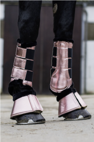 Metallic Brushing Protection Boots by HKM