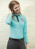HKM Diamonds Shine Long Sleeve Polo Shirt