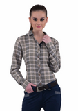 Baker Ladies Plaid Long Sleeve Sport Shirt