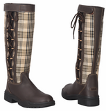 Baker Ladies Ajuste Waterproof Plaid Leather Country Boots