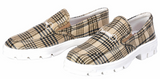 Baker Ladies Snaffle Bit Embroidered Plaid Sneakers