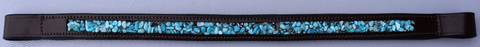 Red Barn TURQUOISE STONE & Bead Padded Browband