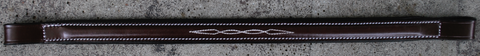 "Red Barn SOVEREIGN Fancy Stitched 3/4"" wide Round Raised Padded Browband"