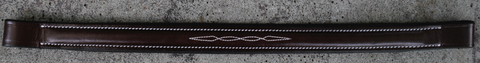 "Red Barn SPIRIT Fancy Stitched 1"" wide Round Raised Padded Browband"