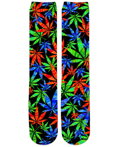 Weeds 3D Knee-High Socks
